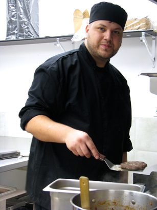 Head Cook Cody Thomas says the Bannock Bison Burger is one of the house favourites.jpg