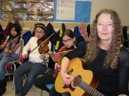 Kitana Gladu-Bellerose, Xiadani Ramirez, T'Keyah Desjarlais and teacher Judy Gatto