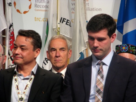 AFN Grand Chief Shawn Atleo and Edmonton Mayor Don Iveson