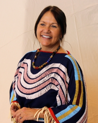 Dr. Linda Many Guns is a professor at the University of Lethbridge who teaches in the area of Aboriginal Law. She uses the symbols of her Blackfoot culture in the classroom.