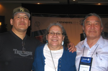 Event sponsor Mike Deranger with his mom, Elder Hazel Deranger and his dad, Elder Fred Djiskeini Deranger