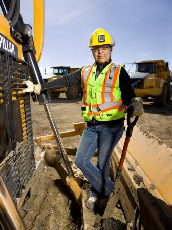 WBF Graduate Adrienne Bear: Heavy Equipment Operator