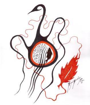 Art by Roger Noskiye, Wabasca AB