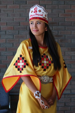 Carly Weasel Child Is Crowned 2014 Calgary Stampede Indian Village Princess Alberta