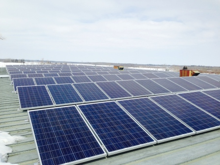 These solar panels are part of a green initiative on the Montana First Nation