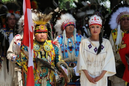 One of her first appearances at the Calgary Stampede was the Grand Entry