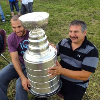 Dwight King with his dad.