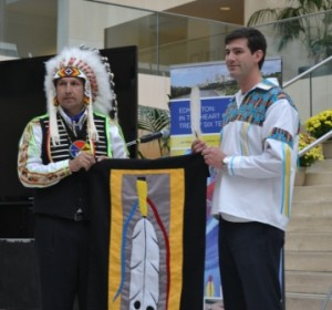 Edmonton mayor Don Iveson and Alexis First Nation Chief Tony Alexis