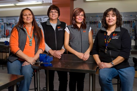 WBF Aboriginal Student Support Team (l-r)  Corey Wells, Elaine Cardinal, Corenda Steinhauer and Carla Lamarche