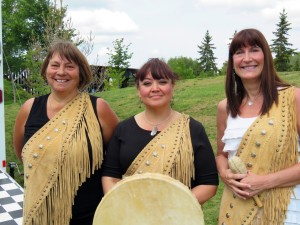 Well known singing trio, Asani, joined NAD celebrations in St Albert on July 21.