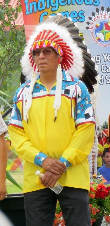 Alberta AFN Regional Chief Craig Makinaw; Article and photo by John Copley