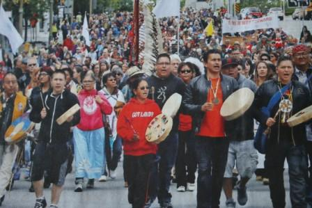Drummers led the way as thousands joined the Walk for Reconciliation in Ottawa on May 31 as part of the final event of the Truth and Reconciliation Commission.  Article and photos by Terry Lusty