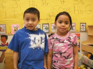 Kindergarten students at St. Theresa School are demonstrating what can happen when there is a division-wide Literacy focus. Juliana Anguilar and Elias Auger are both reading at a PM Benchmarks level of 8, which is mid-grade 1 instructional level. St. Theresa School Literacy Lead Peggy Wheeler says this is rarely seen in kindergarten but it is becoming more common.