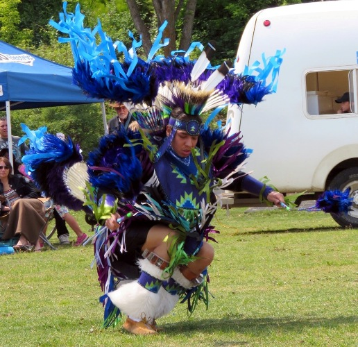 Saddle Lake First Nation Fancy Dancer Dustin Stamp struts his stuff during NAD celebrations in St. Albert.