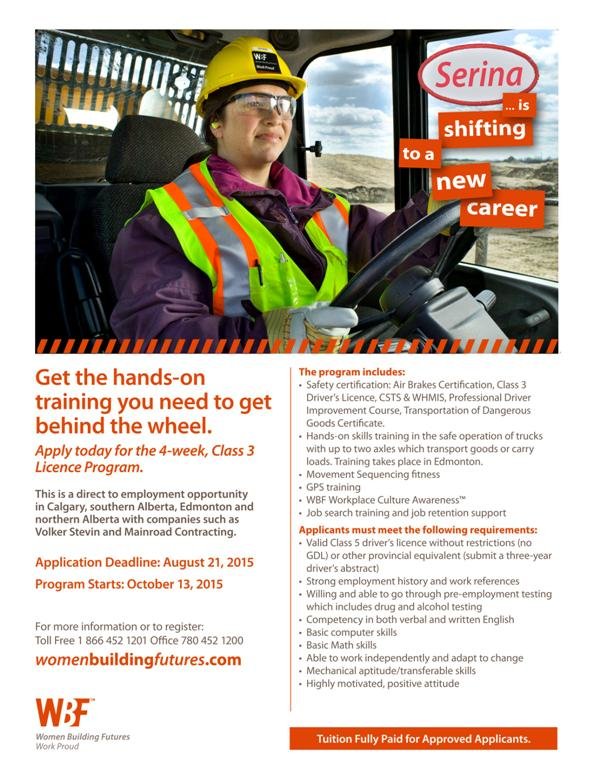 Women building futures offers class 3 driver training program and class 3 malvernweather Choice Image