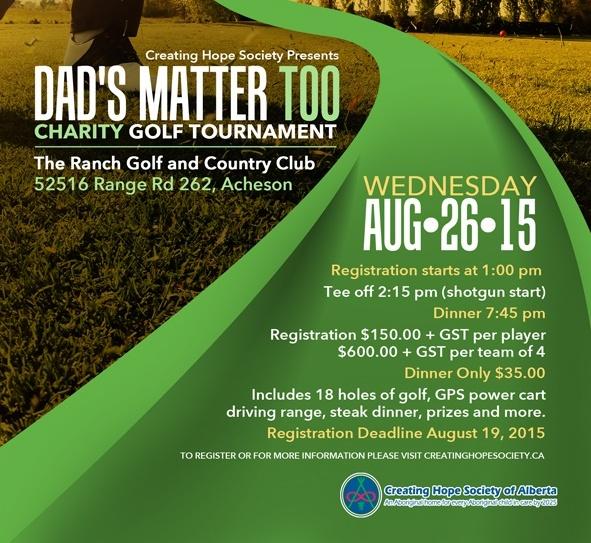 dads matter too golf tourney gets underway august 26 alberta