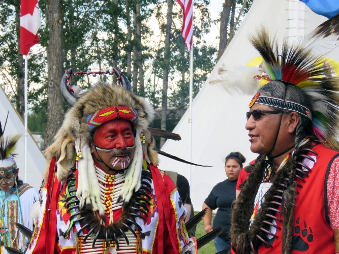 Bert Bull from the Louis Bull First Nation and Fred Scanie from Cold Lake First Nation.