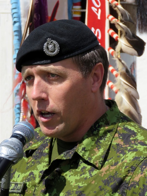 Major V.F. Hayward CD, is the Commanding officer, A Company, 3rd Division Training Centre