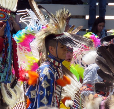 The dancers were a highlight of the powwow.