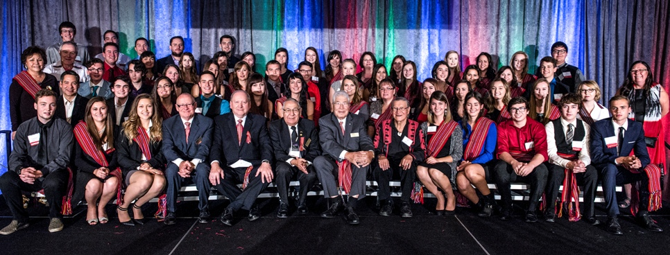 Group photo from the 2015 BBMA Gala event celebrating the achievements of Metis students.