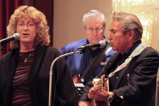 Harry and Gladys Rusk with Hank Karr during Country Music Week 2010.