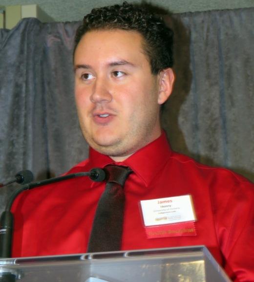 Awards recipient James Henry