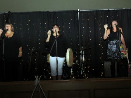 Singing trio ASANI performs at Poundmaker's Lodge October 10 fundraiser.