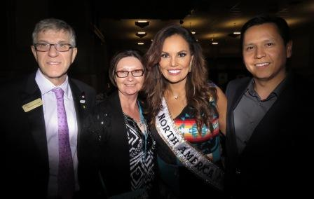 St. Albert Mayor Nolan Crouse, his wife Gwen with Mrs. North America Lisa Ground and her husband Chris