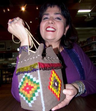 Chrystal Buffalo's beautifully designed bag is a work of art.
