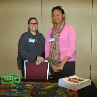 Melissa Jacknife and Coreen Youngchief work with driver education program.
