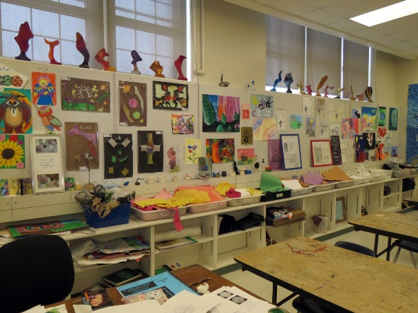 This Colourful Room Is Westmounts Arts And Crafts Classroom