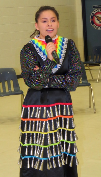 Student Cammie Bull played an instrumental role in organizing Blessed Oscar Romero's family night festivities.