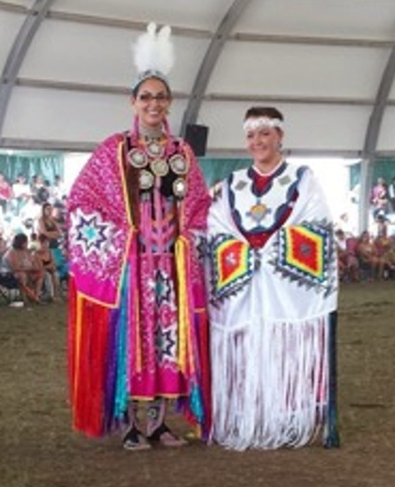 My initiation into the pow wow circle came earlier this year when I attended the Enoch Pow wow with my girlfriend Erin Meetoos,_ explained Sheena Papin (r).