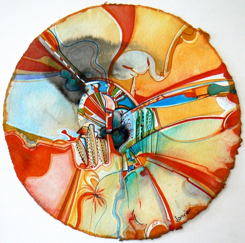 Special Space by Alex Janvier will be on exhibit May 7-  at Bearclaw Gallery in Edmonton.