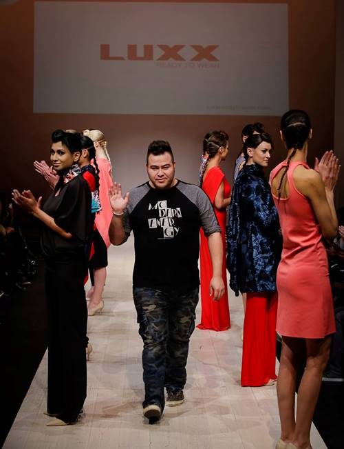 Derek with his latest collection of Luxx designs.