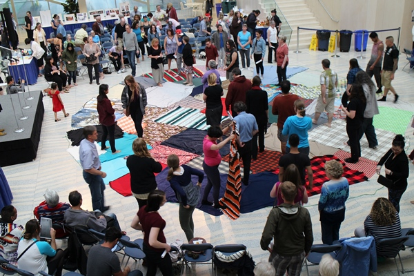 A Blanket Exercise was held to demonstrate the impact of discrimination. Photo by Terry Lusty