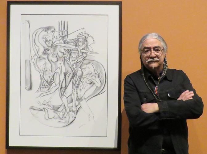 Joseph Sanchez at the Art Gallery of Alberta.