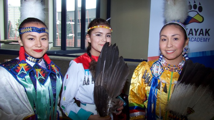 The Eastglen Dancers performed at the recent Amiskwaciy Academy spring feast. Article and photos by John Copley