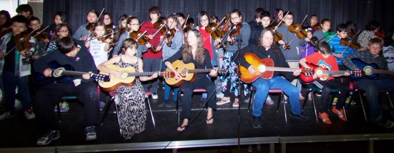 The Prince Charles Fiddlers performed during the Amiskwaciy Academy 2016 Spring Feast.