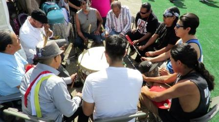First day of the 10-day powwow was led by Host Drum, The Hawk River Singers.