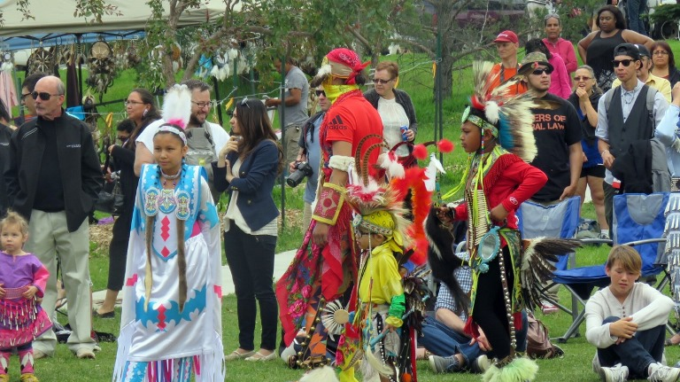 Youth played a big part during NAD 2016 celebration at Borden Park as they led the Grand Entry and provided many highlights during the dancing demonstrations.