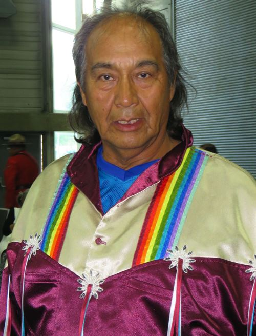 Elder Percy Potts was instrumental in the success of the 10-day K-Days PowWow. He and Elder Francis Alexis worked with Northlands staff to ensure that all powwow protocols were met. Photos by John Copley