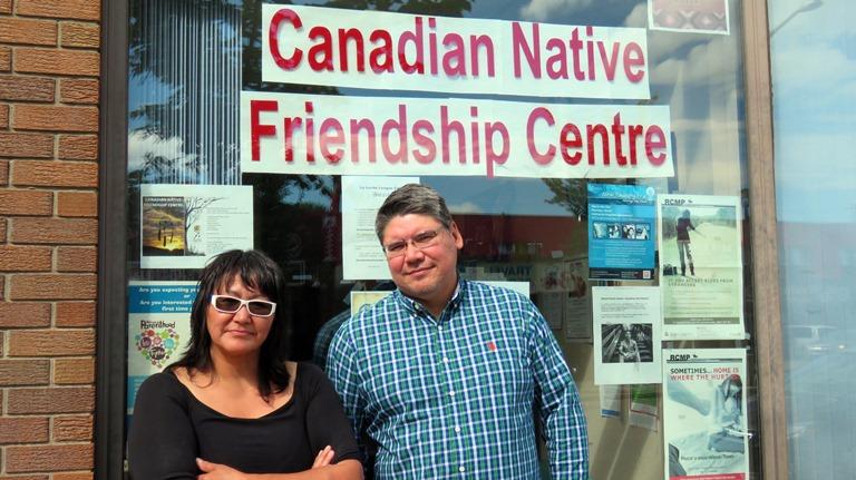 CNFC Edmonton Executive Director Ron Walker and Finance Officer Gloria Swan.
