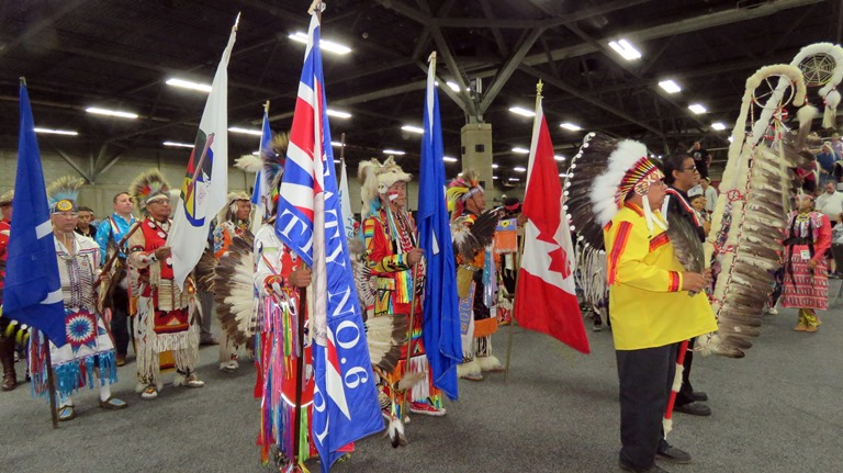 Louis Bull Nation Chief Arman Bull led the Grand Entry Staff and Flag Carriers.