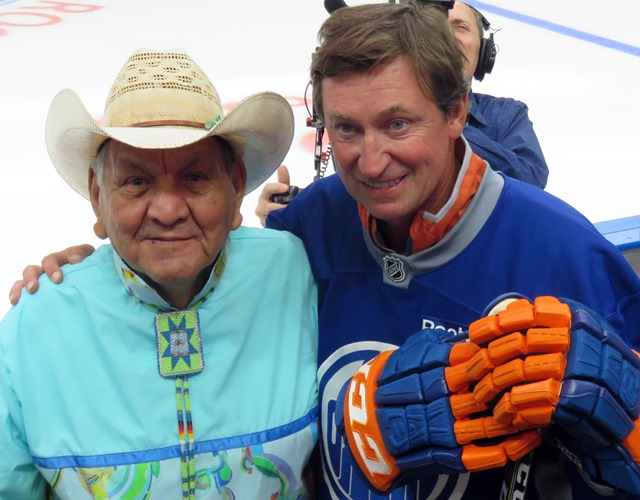 Two Great Ones - artist Alex Janvier and former Oilers star Wayne Gretzky.