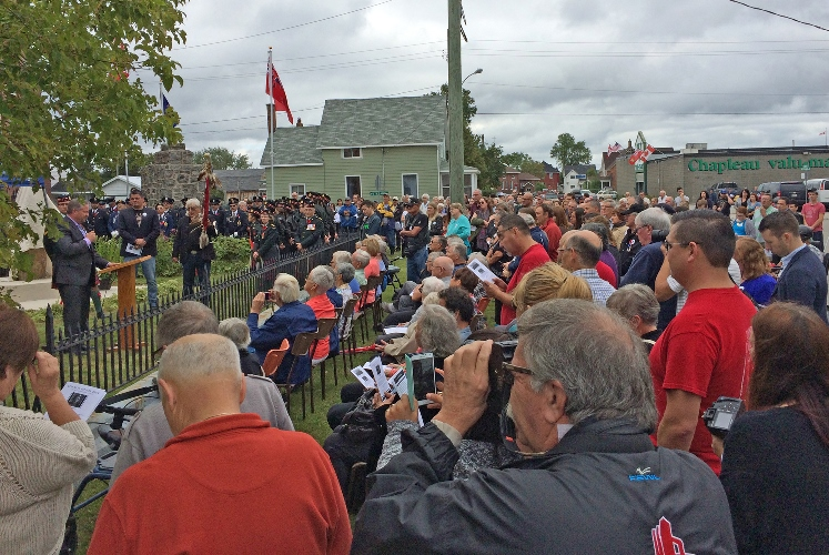 Chapleau honours one of its own at September 17th commemoration.