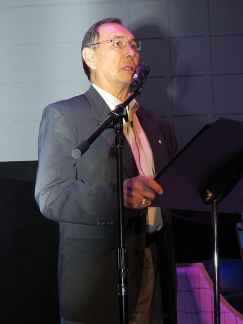 Dr. Wilton (Willie) Littlechild spoke to the audience about his experiences as a Commissioner with the Truth and Reconciliation Commission.