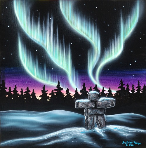 Sky Dance Inukshuk by Amy Keller-Rempp