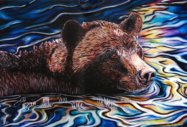Spirit River by Amy Keller-Rempp placed second in the prestigious 2016 Peace Hills Trust Aboriginal Art Contest.