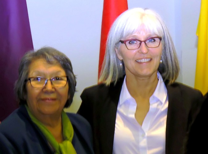 Irene Morin from Enoch First Nation and UAlberta Deputy Provost Dr. Wendy Rodgers.